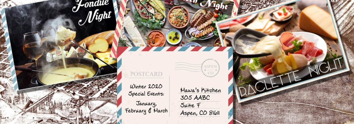 Special Dining Events Winter 2020