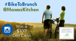 Instagram BikeToBrunch Contest - Mawa's Kitchen Aspen