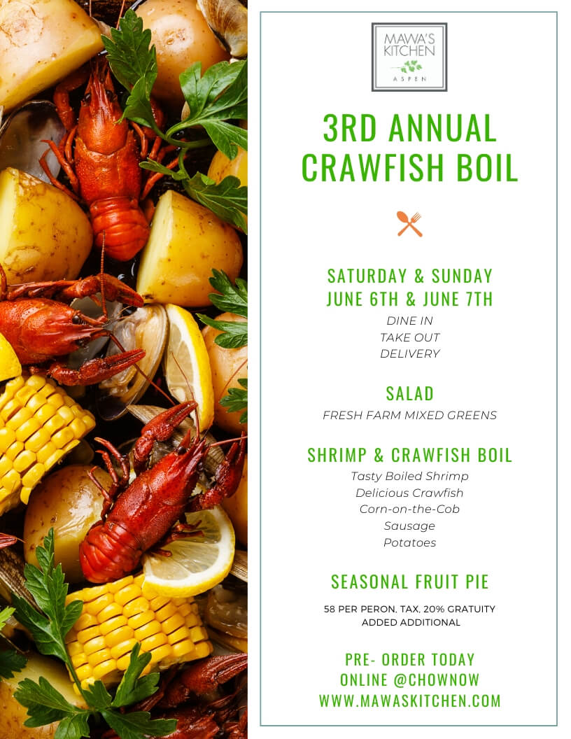 Our Crawfish Boil is Back!
