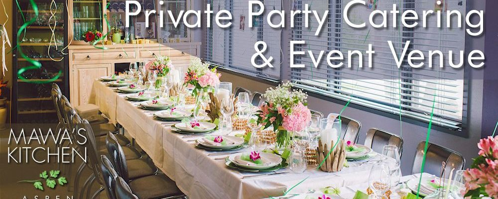 Aspen Colorado Private Party Catering & Event Venue