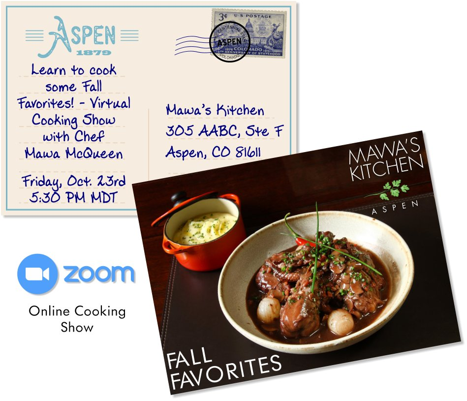 Fall Favorites Free Online Cooking Class with Chef Mawa McQueen