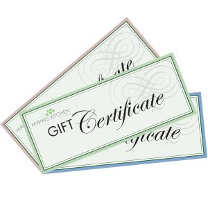 Gift Certificate/Gift Card