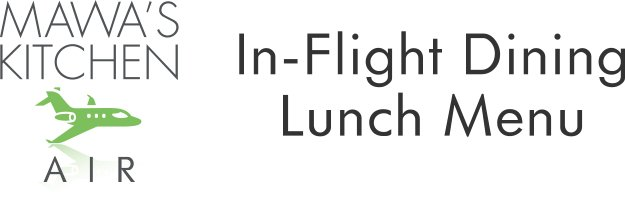 Lunch Menu Aspen In-flight Dining Private Jet Catering